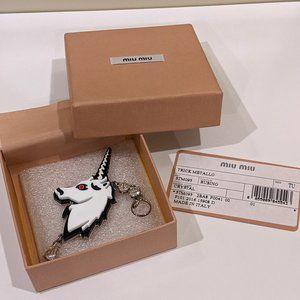 Miu Miu Unicorn Keychain/Bag Charm